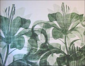 aménagement Ehpad design tapisserie fleurs vertes