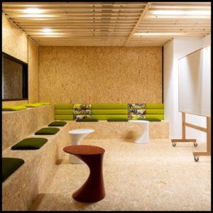 Lounge aménagement en bois