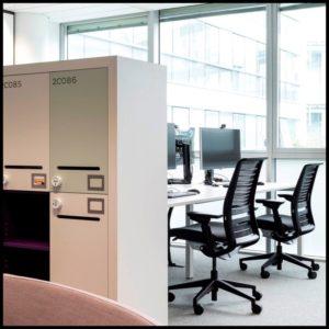 bureaux individuels aménagement espace de travail natixis