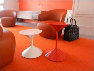 aménagement Ehpad design salon orange