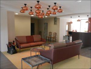 aménagement Ehpad design salon cuivre